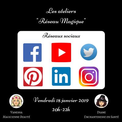 les ateliers réseau magique - réseaux sociaux