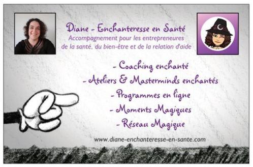 Cdv - Diane - Enchanteresse en Santé - verso